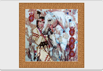 "Kit of beaded embroidery ""Squaw"""