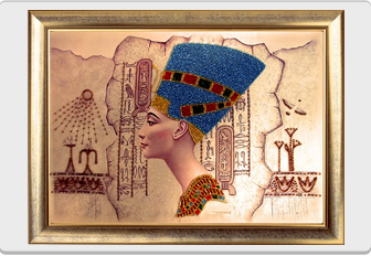 "Kit of beaded embroidery ""Nefertiti"""